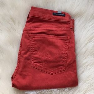 CITIZENS OF HUMANITY Brick Red Straight Leg Size28